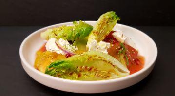 tomates anciennes et mozza de bufala